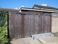 Large wooden garden/driveway gates