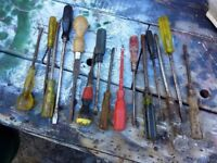 collection of large screwdrivers