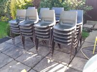 20 stacking chairs for patio classroom garden