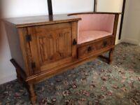 Hall telephone seat