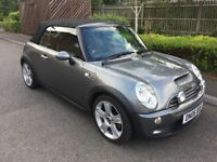 STUNNING GREY 2006 MINI COOPER S CONVERTIBLE FACE LIFT FULLY LOADED 1 YEAR MOT