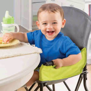 Summer Infant Pop 'N Sit Portable High Chair with Tray - Lime/Bl