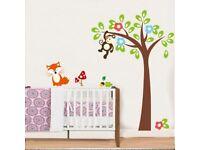 Monkey Hanging On Tree Wall Decal - Brand New - Kilmarnock Area