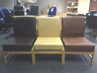 Reception/Visitor Chair, Only One Colour Now Available (Light Beige) 3 Left In Stock.