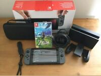 Nintendo switch console & 3 games
