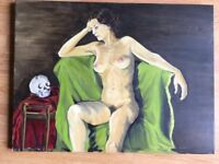 Nude in oil by Jane Eva Cooper (2003) 46cm X 61cm