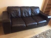 BARGAIN 3 seater leather sofa