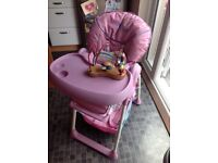 Hauck Sit 'n Relax highchair in pink