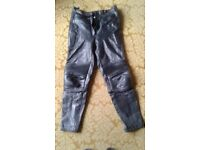Ladies leather motorcycle trousers size 14