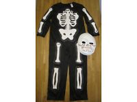 ghastly skeleton costume, size 7-8 years