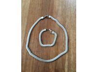Indian Silver Necklace and Bracelet