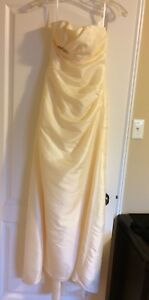 Ivory Strapless Floor Length Gown