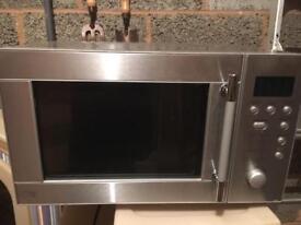 Sainsbury's stainless steel microwave