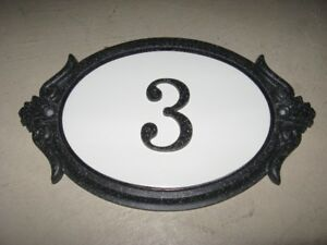 House Number Sign Plaque Brand New