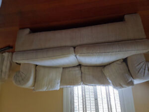 Used 7 1/2 ' couch and 5 1/2 foot loveseat.