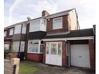 three bedroom semi detached house available in the popular suburb of Rushey Mead.