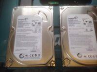 2x 500gig sata hard drives