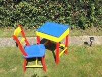 Genuine 1970's desk & chair