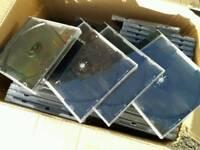 Box of 89 CD cases