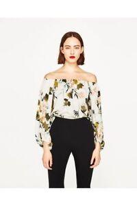 Zara Off the Shoulder Floral Bodysuit (medium)