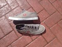 Gents new Fred Perry soft shoes col grey