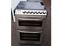 ZANUSSI STAINLESS STEEL FREE STANDING 55cm ELECTRIC COOKER