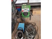 Genset 225 amp petrol welder with CC CV plus wire feeder unit and cables