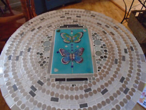 HANDCRAFTED TILED TABLE & CHAIRS