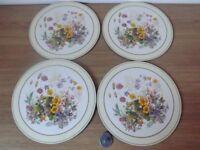 4 Flower Table Mats