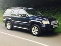 2005 JEEP Grand Cherokee 2.7 crd limited auto only 111k, trade in considered. credit cards accepted.