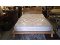 """Solid wood KING SIZE bed frame & NEW 8"""" sprung mattress CHEAP local DELIVERY Stalybridge SK15 2PT"""