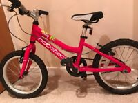 Girls 16 inch Pink Ridgeback Mountain Bike