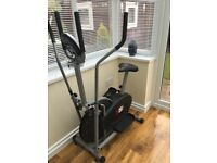 Pro cross trainer - 2 in 1 - exercise bike - cardio fitness workout machine
