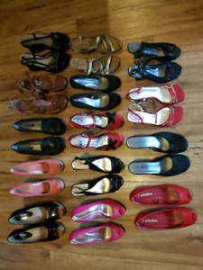 New brand name sandals, flats, heals, runners, boots and more