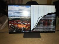 Dell Ultrasharp U2414H Monitor (Cracked Screen)