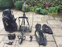 36 Hole Powerkaddy Electric Golf Trolley with accessories
