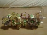 Portmeirion Botanic Garden Napkin Rings x 6 - Flowers and Butterflies - Boxed