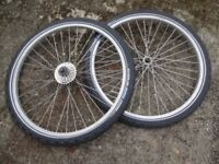 """Mountain Bike wheels. 26"""" front and rear."""
