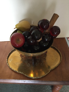 Brass Fruit Bowl