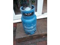 gas bottle and adapter for caravan or barbeques