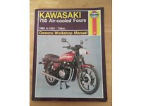 Kawasaki 750 Air- Cooled Fours Haynes Manual ( soft Back )