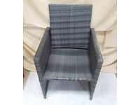 Grey Rattan Chair with Foldable Top