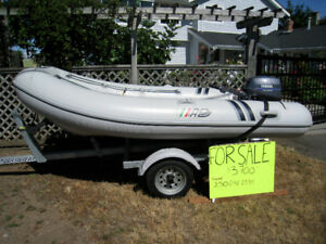 AB 10ft 8 inch hard bottomed inflatable boat for sale!
