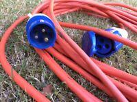 Caravan, camper or motorhome mains hookup cable