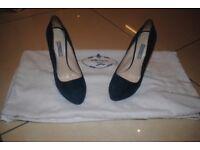 Prada Suede Heels .Worn for a wedding.