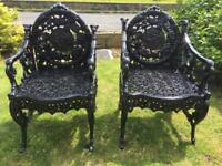 Amazing cast garden chairs
