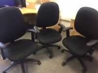 Office chairs - only 2 years old! Black