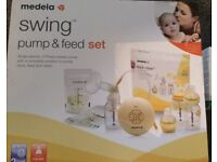 Medela Swing Pump & Feed Set-as new condition
