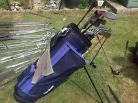 Blue MacGregor Golf Bag with Clubs