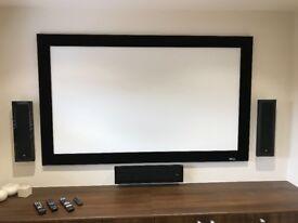 "Home Cinema Screen - Draper Onyx 82"""